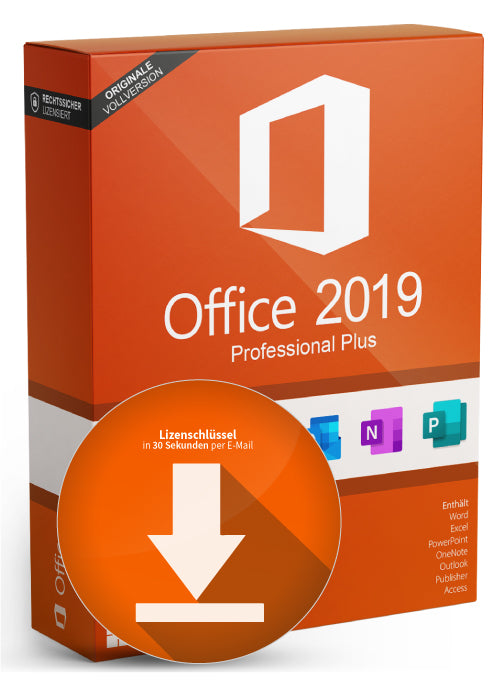 Microsoft MS Office Professional Plus 2019 (32/64 Bit) 1 Lizenz deutsch