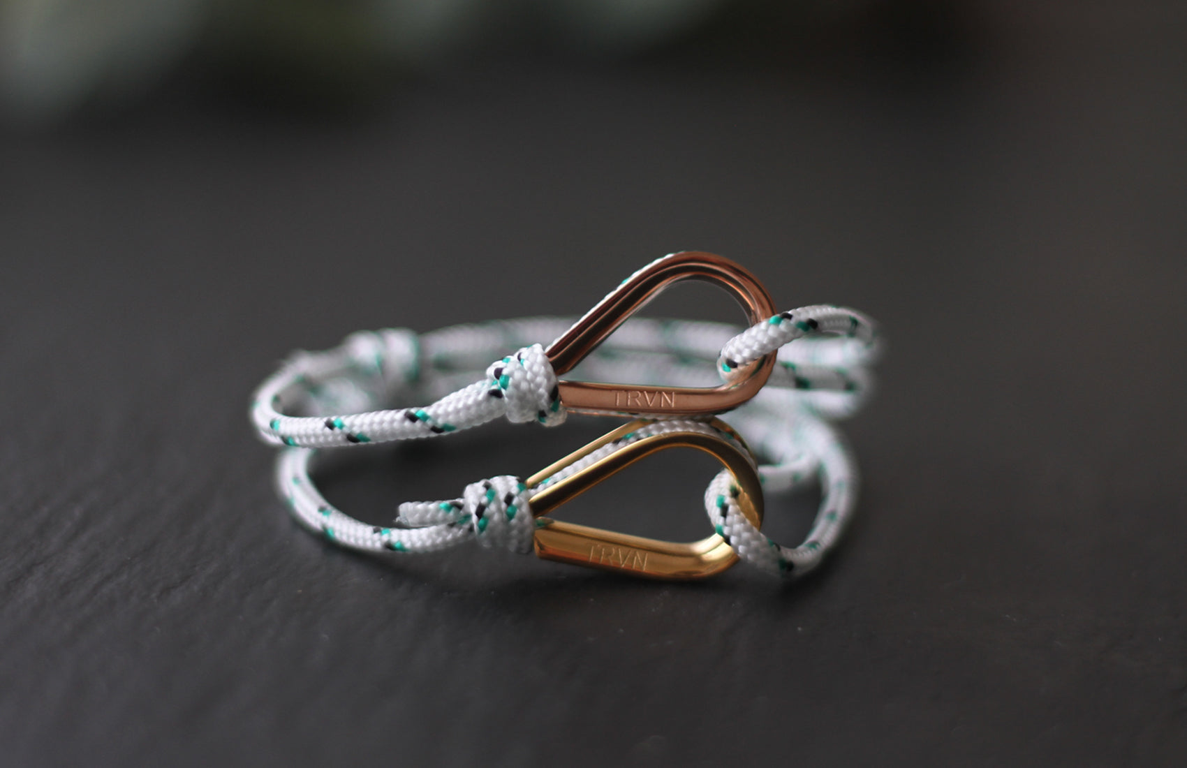 Rope Bracelets for Couple in Daisy White Color