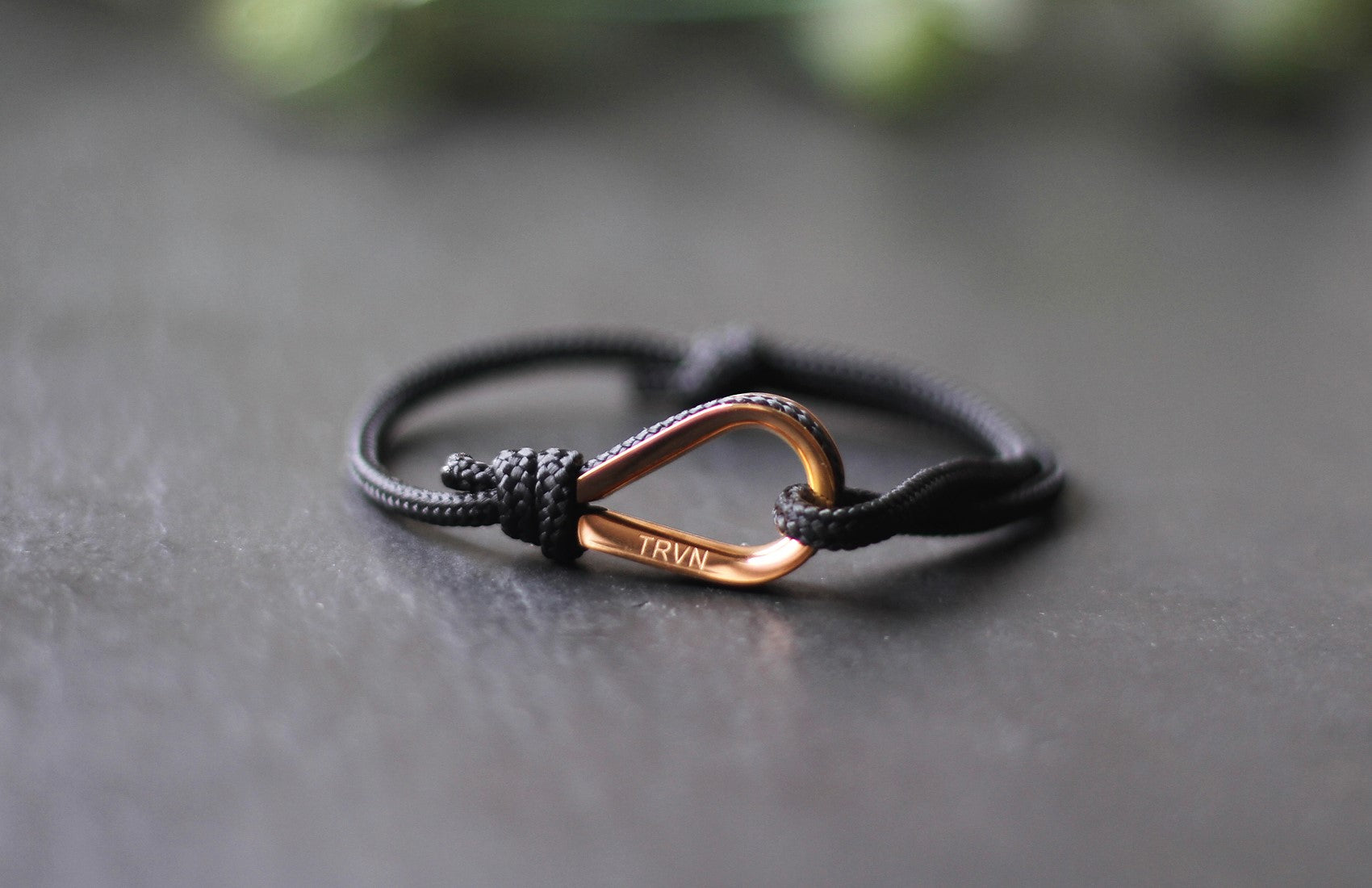 Rope Bracelets for Couple in Charcoal Black Color