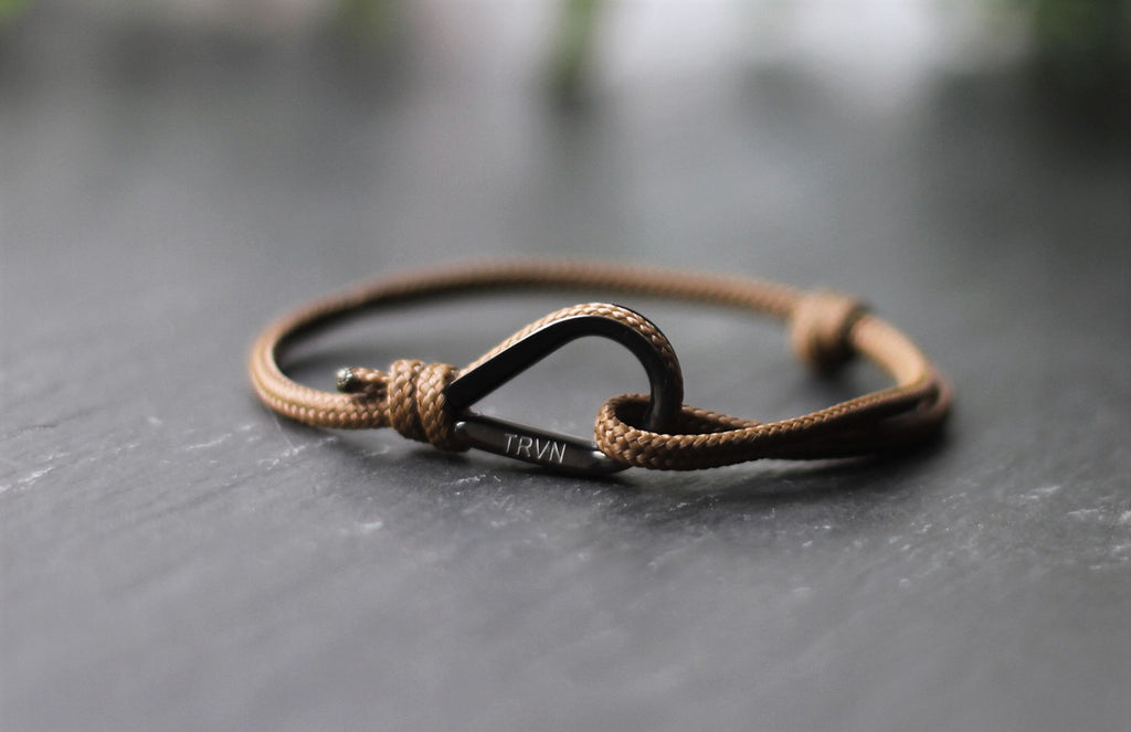 UNISEX Rope Bracelet in Earth Brown Color
