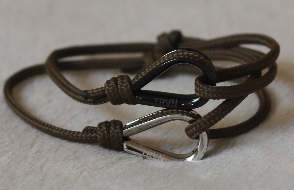 Rope Bracelets for Couple in Earth Brown Color