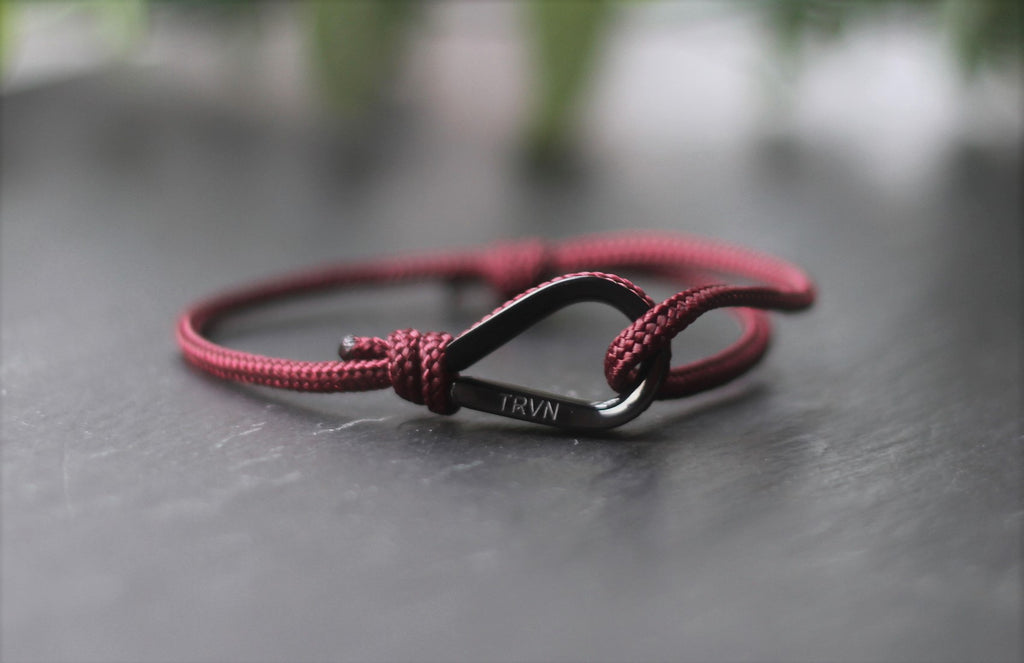 UNISEX Rope Bracelet in Burgundy Color