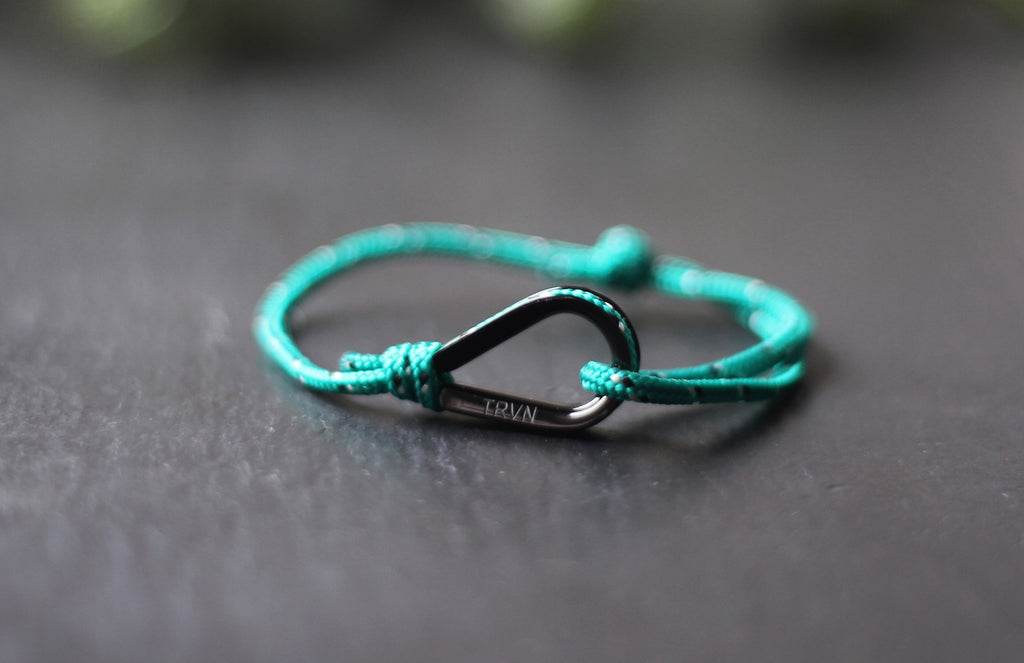 UNISEX Rope Bracelet in Forest Green Color