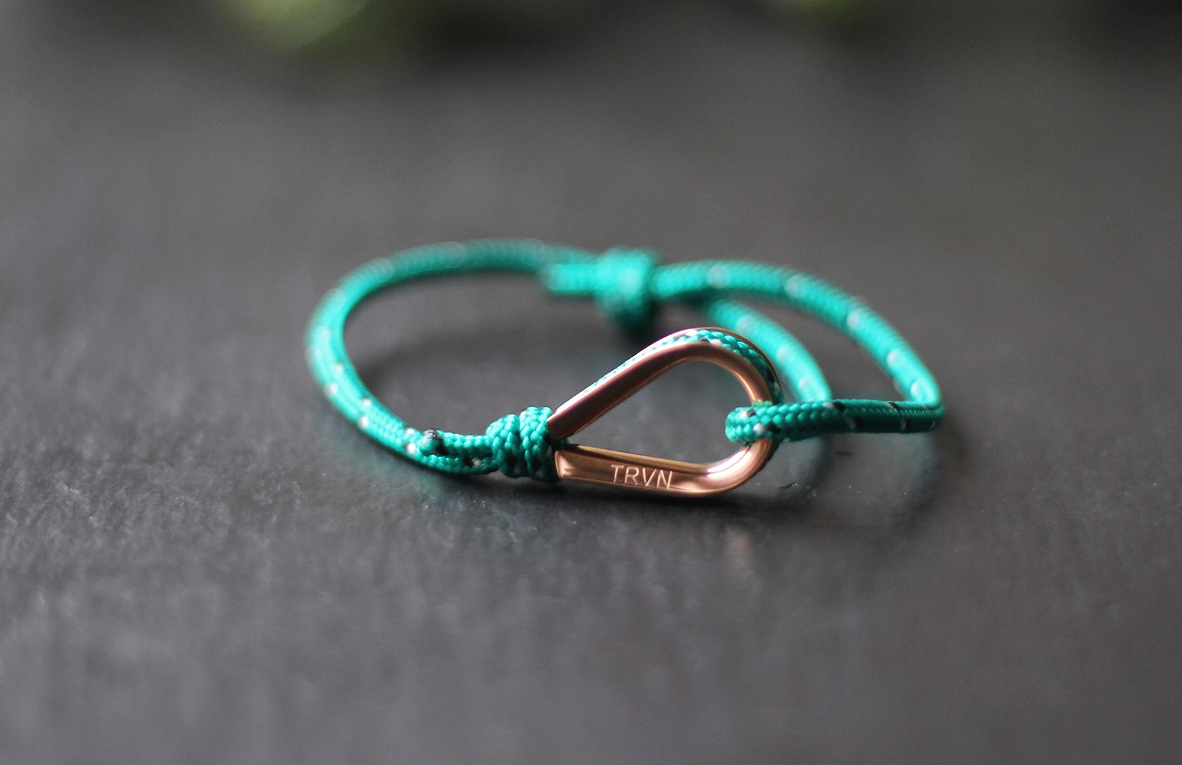 Rope Bracelets for Couple in Forest Green Color