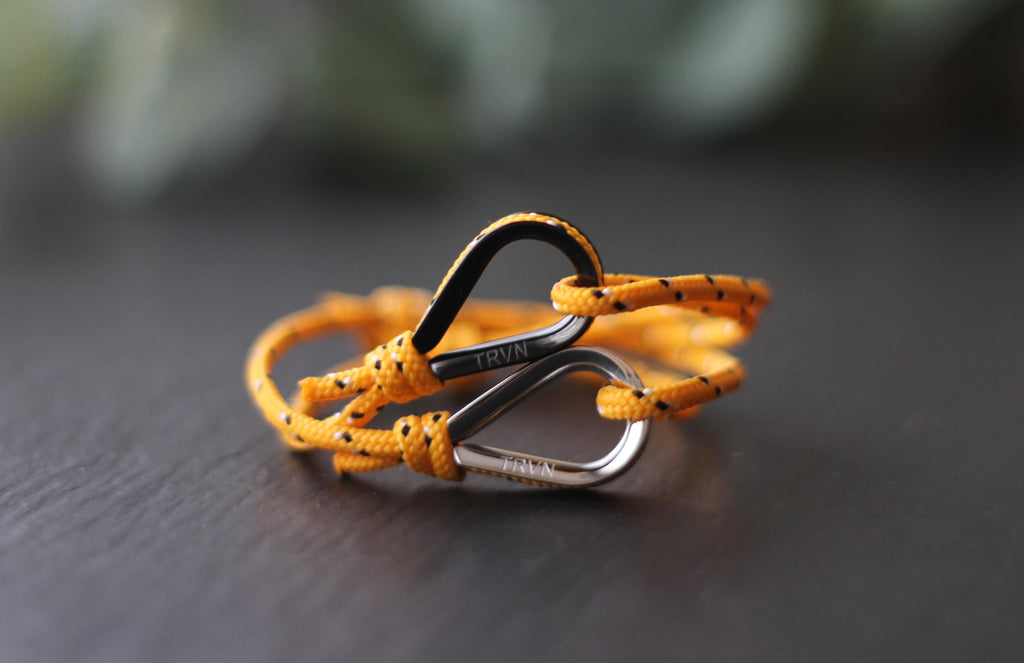 Rope Bracelets for Couple in Orange Color