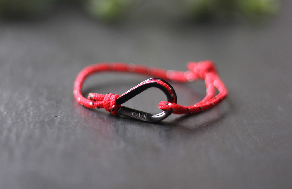 UNISEX Rope Bracelet in Ruby Red Color