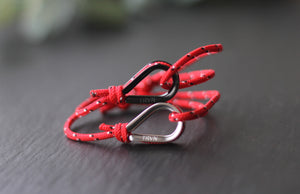 Rope Bracelets for Couple in Ruby Red Color