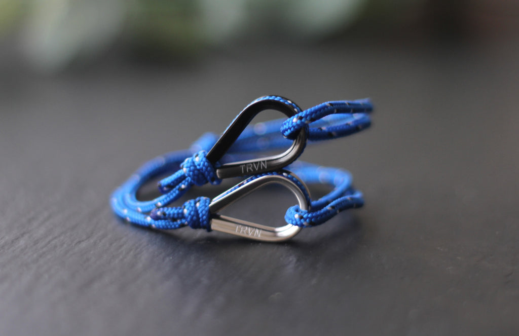 Rope Bracelets for Couple in Indigo Blue Color