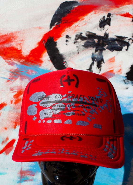 Red Metamorphosis Trucker Hat