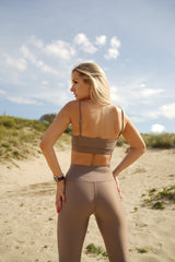 High-waisted leggings - Soft tan - Save The Wave