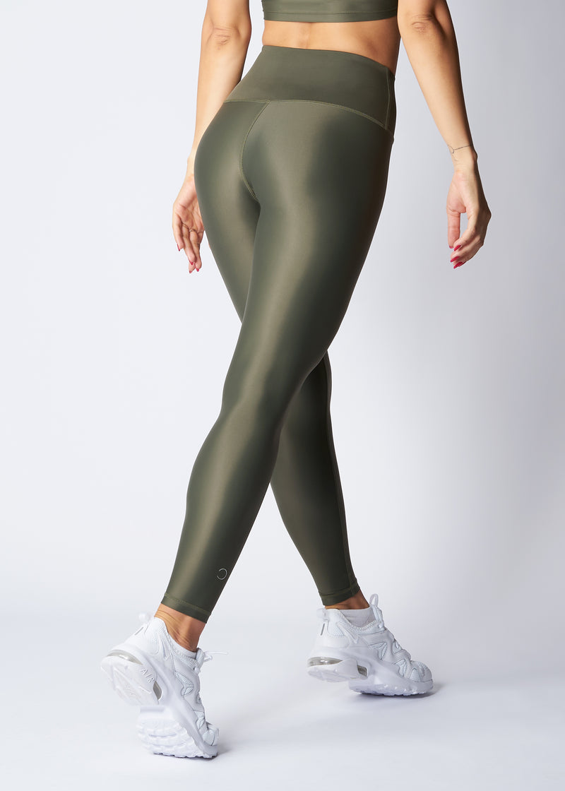 High-waisted leggings - Turtle green - Save The Wave