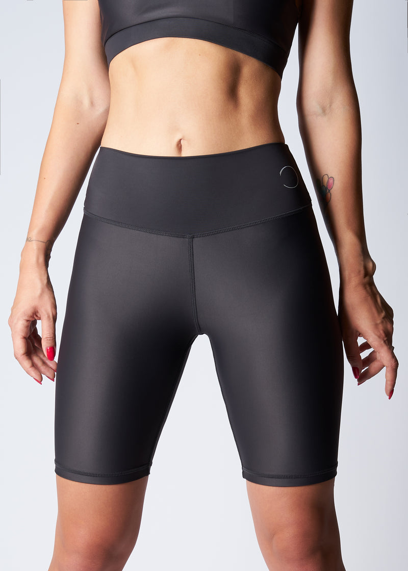 High-rise biker shorts - Dolphin grey - Save The Wave