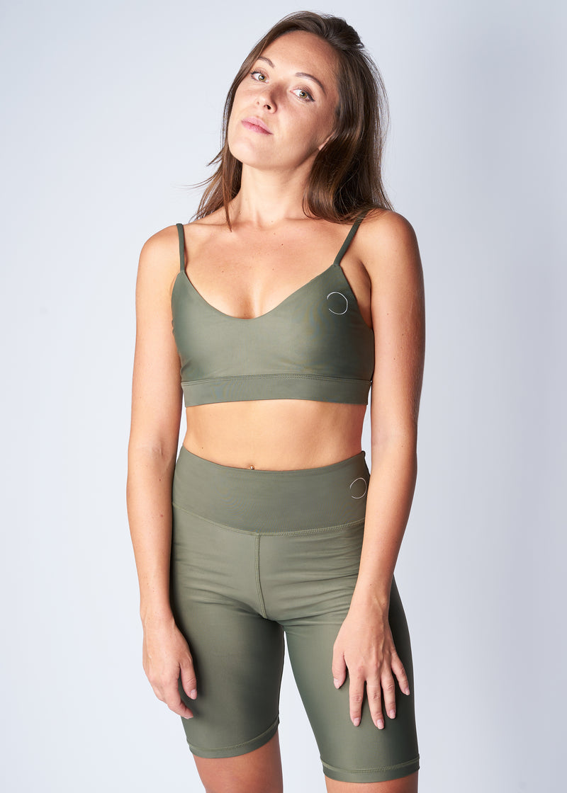 V-Neck sports top - Turtle green - Save The Wave