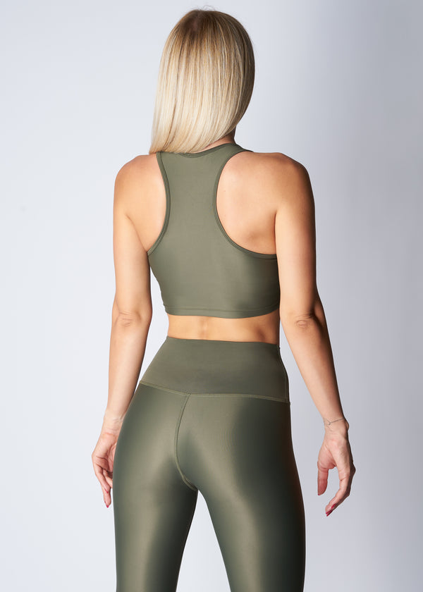 Midi crop style top - Turtle green - Save The Wave