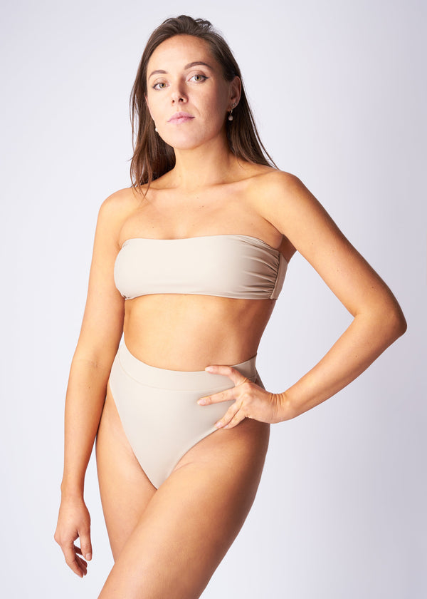 Bandeau bikini top - Sandy beach - SAVE THE WAVE ®