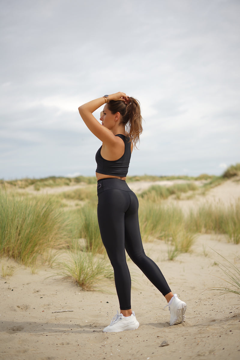 High-waisted leggings - Ultra-Black