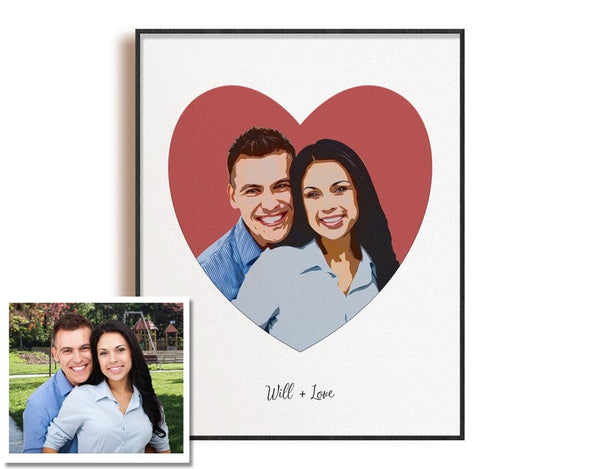 Personalized Love Couple Portrait
