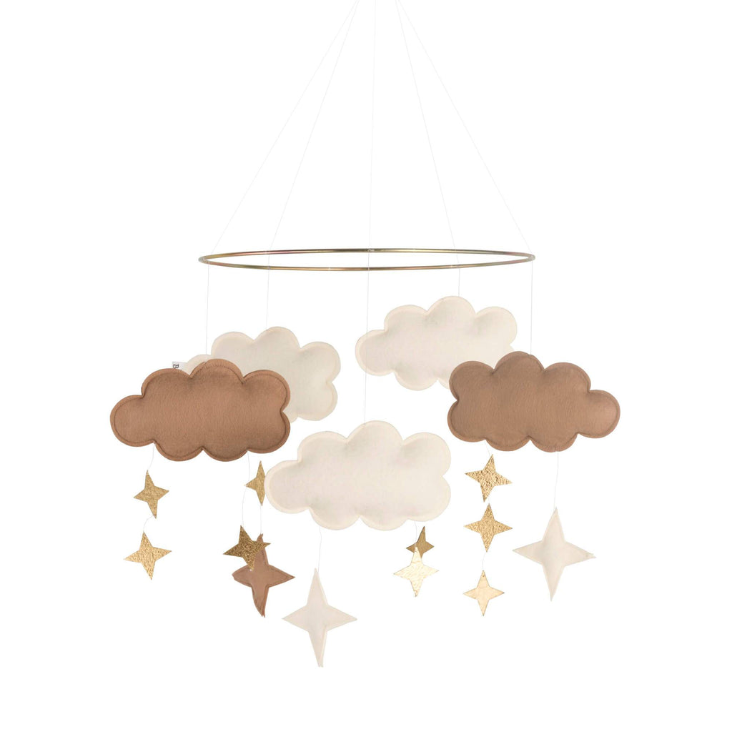 Baby Bello - Fantasy Clouds Mobile - Natural Caramel Baby Bello
