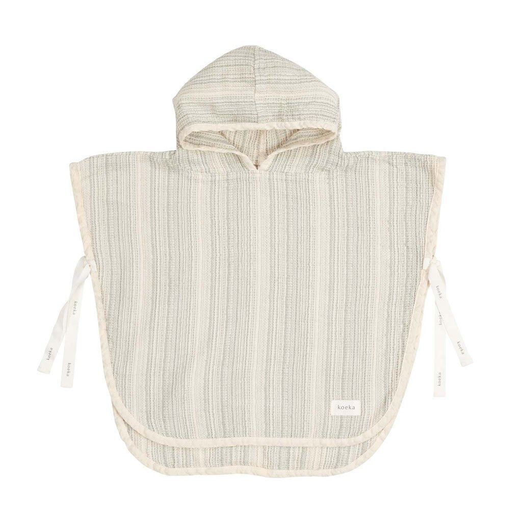 Koeka - Towel Poncho Maui - Green Stripes Koeka