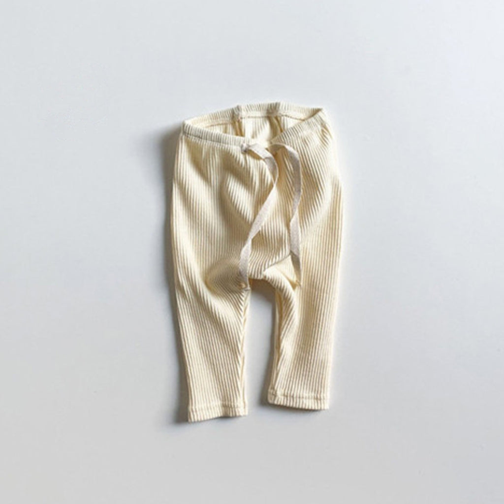 Mini Robe - Ribbed Leggings - Ivory Mini Robe