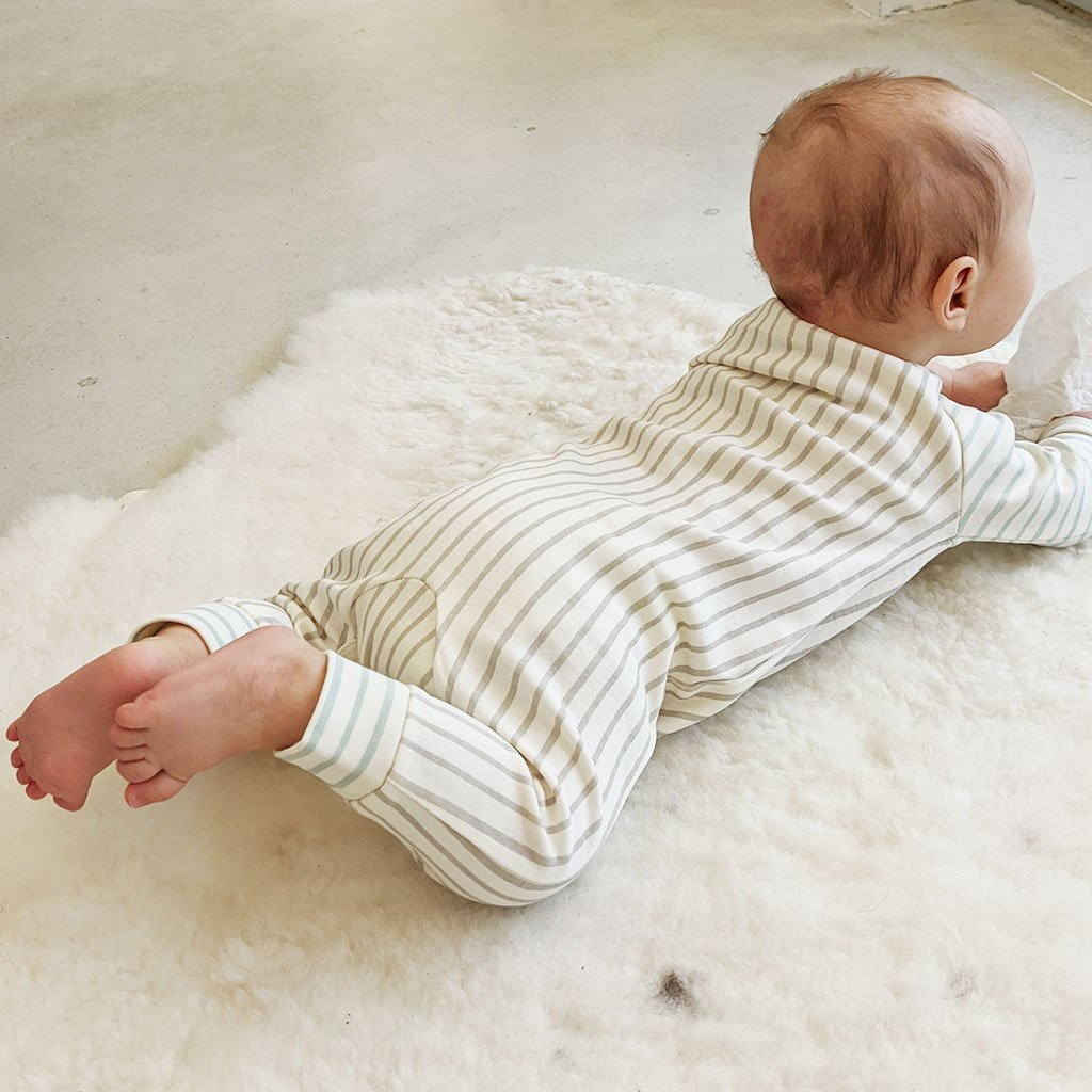 Pehr - Stripes Away Romper - Pebble/Sea Pehr
