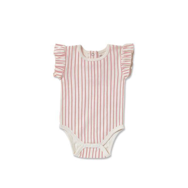 Pehr - Stripes Away Ruffle Body - Pink Pehr