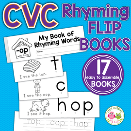 Rhyming Activities - CVC Rhyming Flip Books