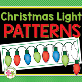 Christmas and Holiday Lights Patterning Activity