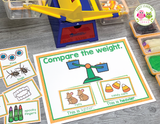Comparing Weights: Fall & Halloween Addition