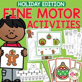 Christmas & Holiday Fine Motor Activities with BONUS Cutting Practice Mini-books