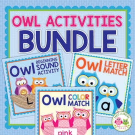 Owl Activities Bundle