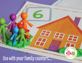 All About Me Family Counting Activity