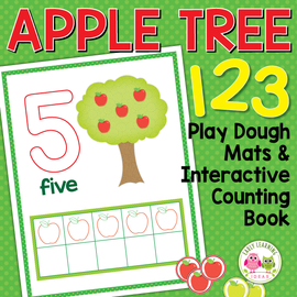 Apples Theme 0-10 Play Dough Counting Mats