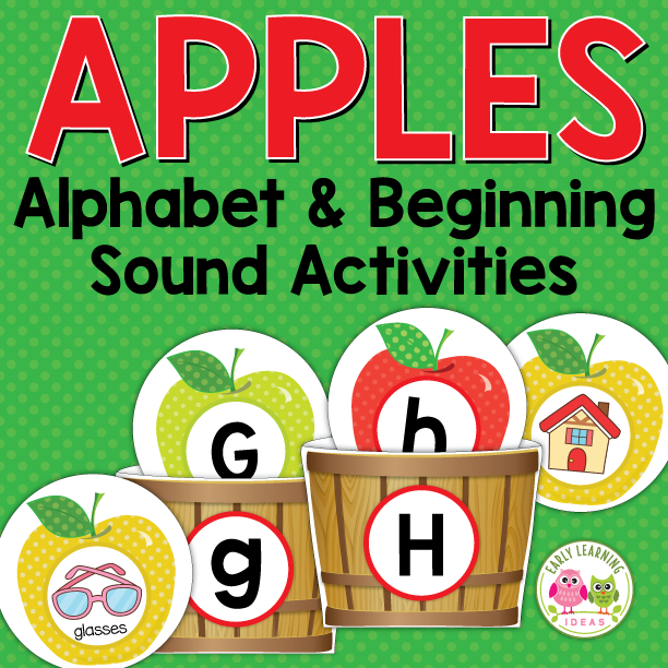 Apples Alphabet and Beginning Sound Activities