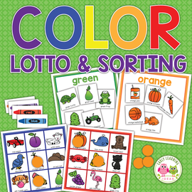 Color Lotto Game and Sorting Activity