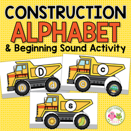Construction Theme Alphabet & Beginning Sound Activity