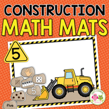 Load image into Gallery viewer, Construction Theme 1-20 Math Mats