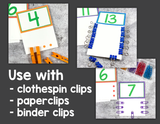 Counting & Fine Motor Clip Activities
