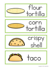 Load image into Gallery viewer, Taco Restaurant Dramatic Play Printables