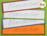 Editable Name Tracing Cards