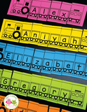 Editable Name Practice Puzzles - Train Name Puzzles