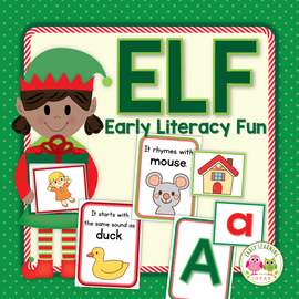 Christmas Elf ABC, Beginning Sound, & Rhyming Activity