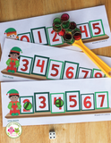 Christmas Elf Roll and Cover Math Game