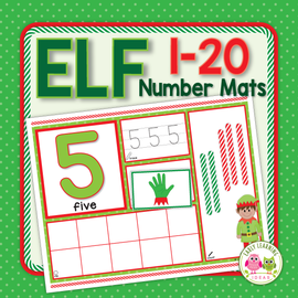 Christmas Elf 1-20 Math Activity Mats