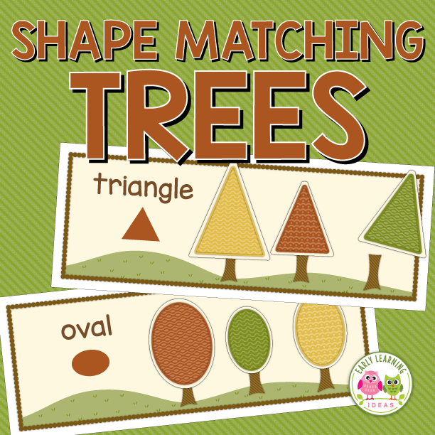 Fall Trees Shape and Size Sorting Activity