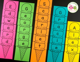 Editable Name Practice Puzzles - Ice Cream Name Puzzles