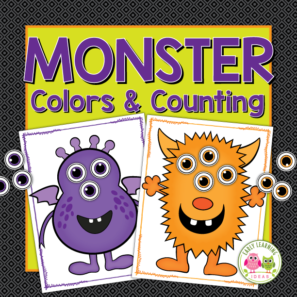 Monster Color Matching & Counting Activity