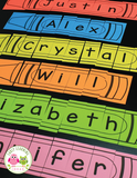 Editable Name Practice Puzzles - Crayon Name Puzzles