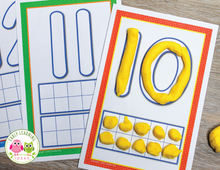 Load image into Gallery viewer, Number Playdough Mats & Loose Parts Mats 1-20