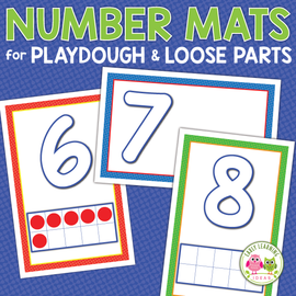 Number Playdough Mats & Loose Parts Mats 1-20